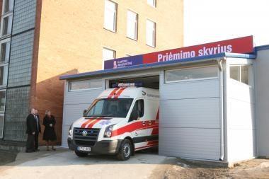 Atnaujintas ligoninės priėmimo skyrius