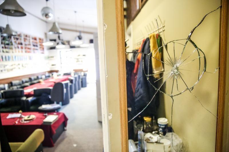 Velykų rytą nusiaubti Kauno       žurnalistų namai