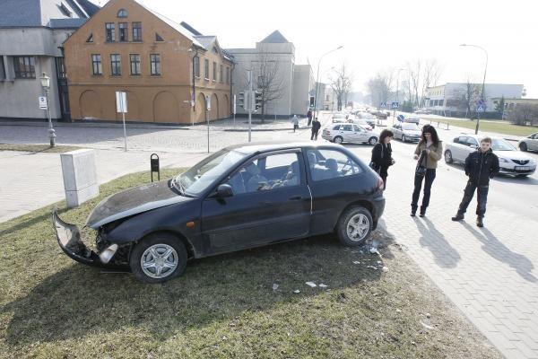 Klaipėdos centre – automobilių avarija