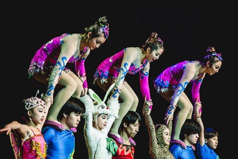 Kinijos   cirke   šėlo  ne  tik  merginos