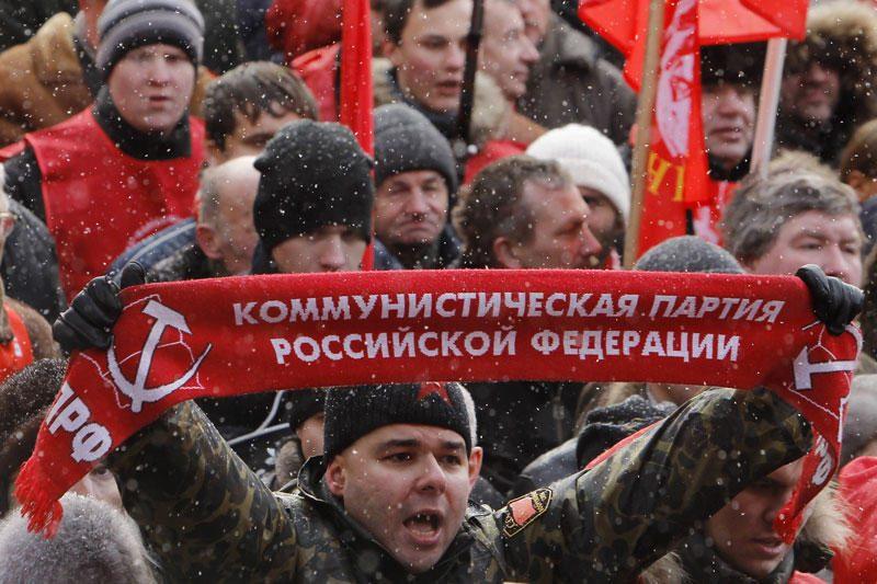 Maskvoje vyksta komunistų mitingas už sąžiningus rinkimus