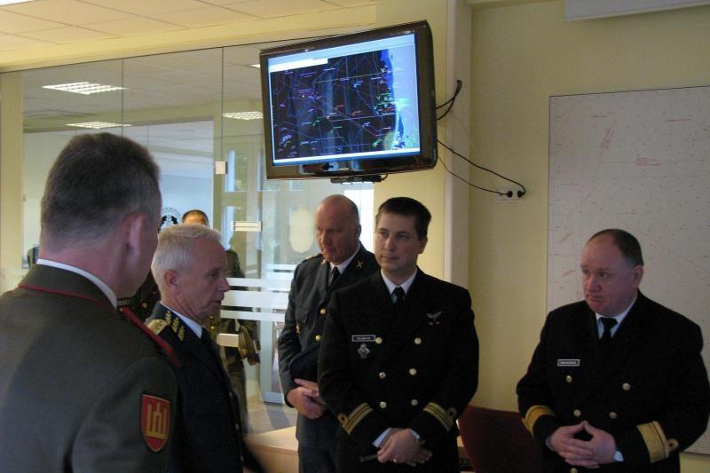 Karinių jūrų pajėgų štabe Klaipėdoje - svečias iš Švedijos