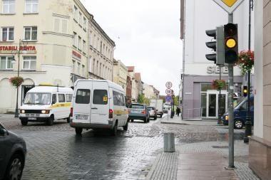 Savaitgaliais išjungs Tiltų ir Turgaus gatvių sankryžos šviesoforą