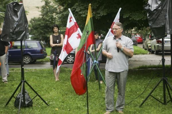 Vilniuje prisiminta Gruzijos ir Rusijos ginkluoto konflikto pradžia