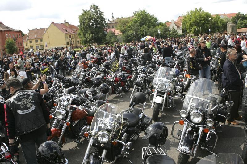 Savaitgalį Kaune  griaudės motociklai