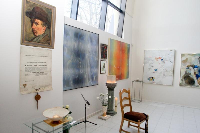 Kazimiero Žoromskio studiją paženklino atminimo lenta
