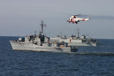 """""""Sudūvis"""" dalyvauja karinėse pratybose Baltijos jūroje"""