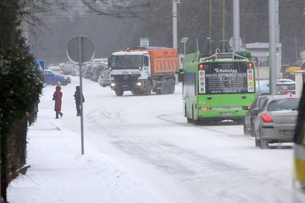 Sniego šturmas miestui kainuoja nepigiai (atnaujinta)