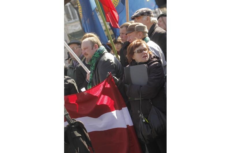 Patriotiniame mitinge - skirtingos pilietinės nuotaikos