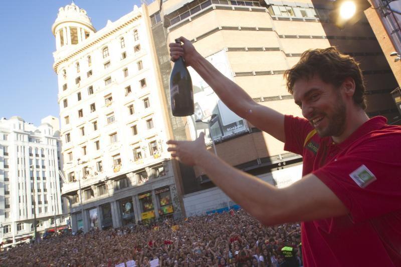 Ispanijoje trukšmingai sutikti Europos čempionato nugalėtojai