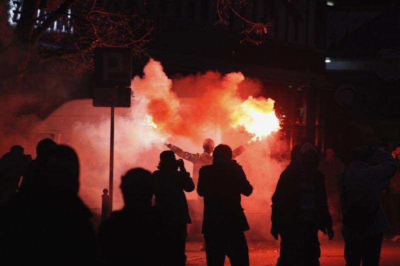 """Varšuvoje Nepriklausomybės diena """"paminėta"""" riaušėmis"""