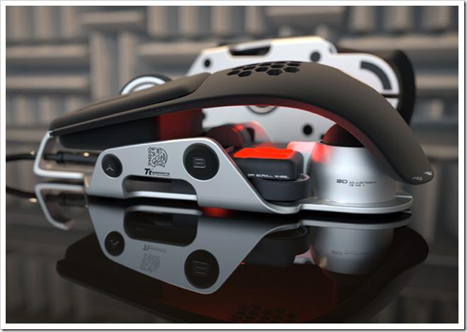 """BMW dizaineriai kompanijai """"Thermaltake"""" sukūrė pelę"""