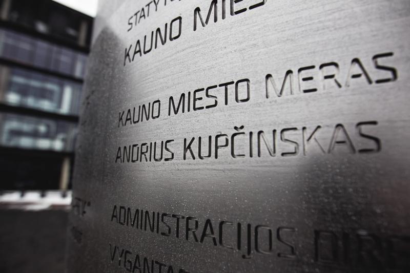 """Prie """"Žalgirio"""" arenos iškilmingai atidengta rėmėjų garbės lenta"""