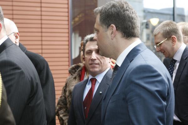 Klaipėdoje vieši Latvijos prezidentas