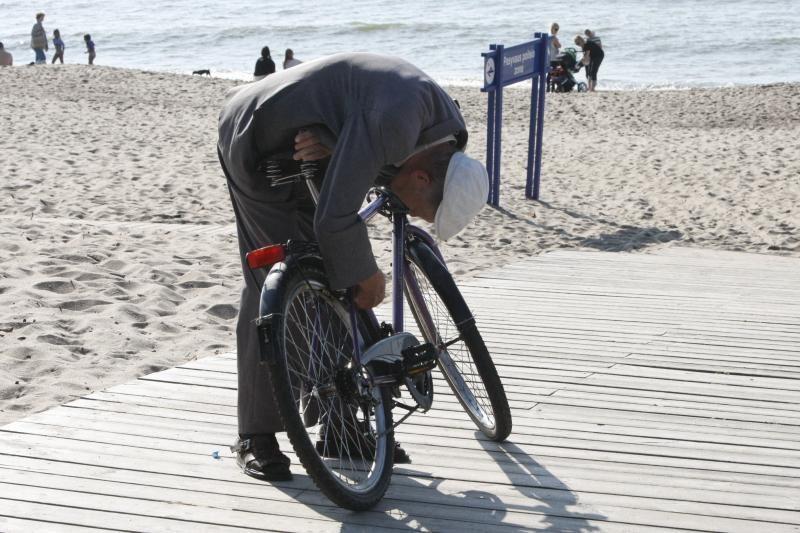 Klaipėdiečiai savaitgalį leido paplūdimiuose