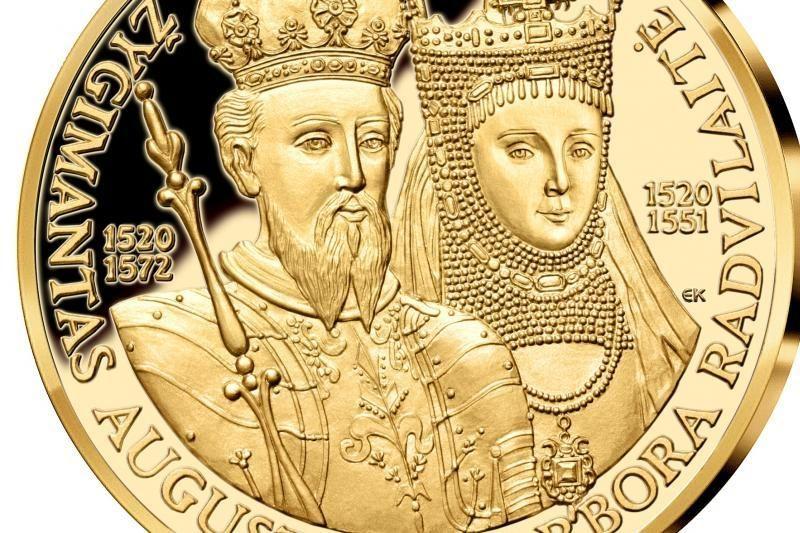 Viena garsiausių Lietuvos porų įamžinta paauksuotame medalyje
