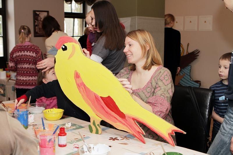 Vaikai gamino paukščius Skulptūrų parkui