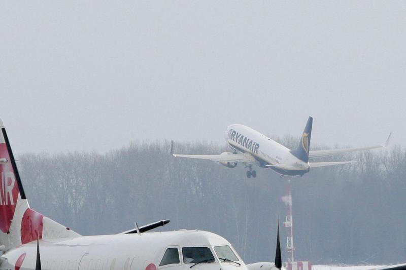 Dėl pūgos Kauno oro uoste vėlavo lėktuvai