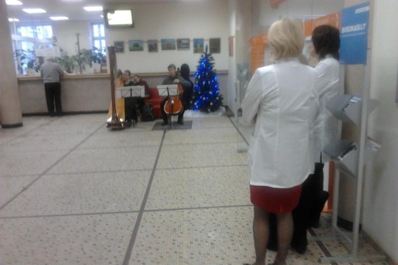 Vaikų padėka medikams – nemokamas koncertas poliklinikoje