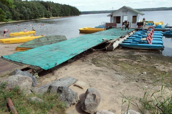 Dėl sausros nuseko Kauno marios
