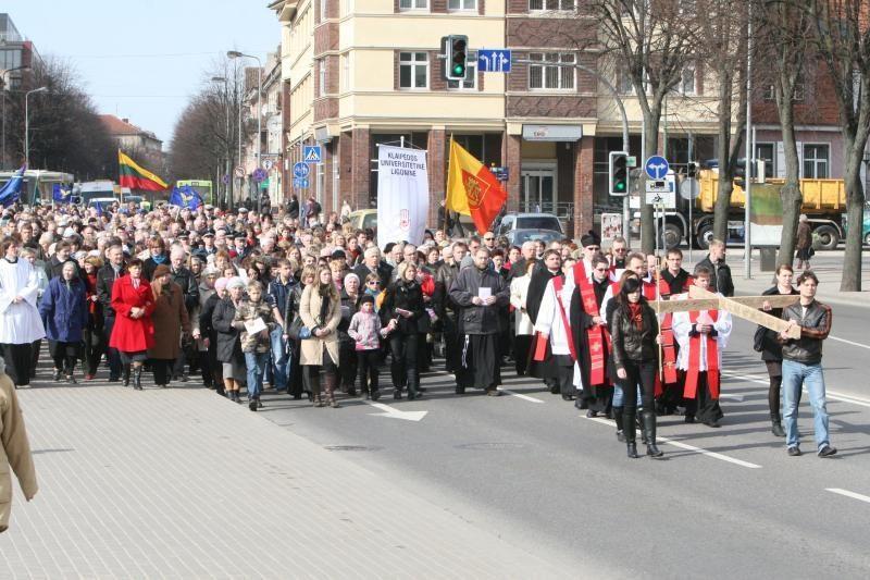 Penktadienį Klaipėdoje - tikinčiųjų eisena