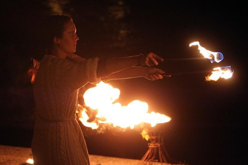 Neries krantinėje – ugnies ir muzikos misterija