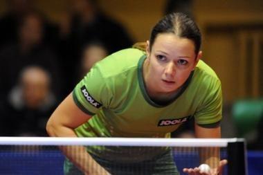R.Paškauskienė poroje su ruse - Europos stalo teniso pirmenybių finale