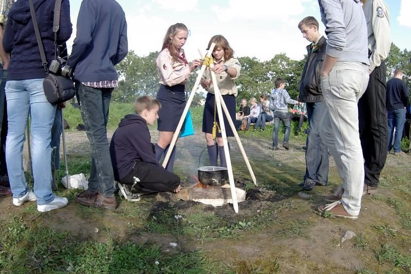 Klaipėdos jaunuolius kvietė tapti skautais