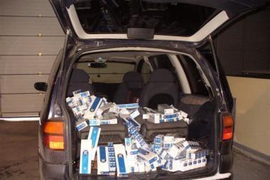 Sulaikyta rusiškų cigarečių kontrabanda