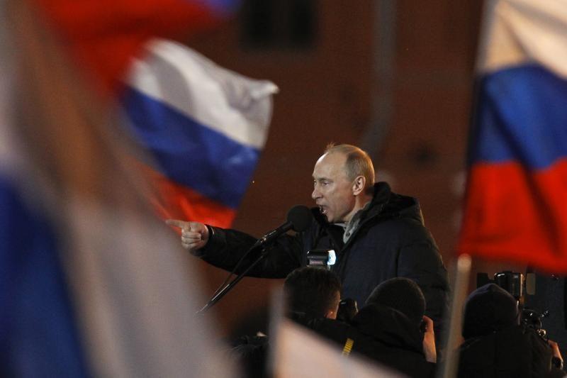 Lietuvoje per 76 proc. rusų balsavo už V.Putiną