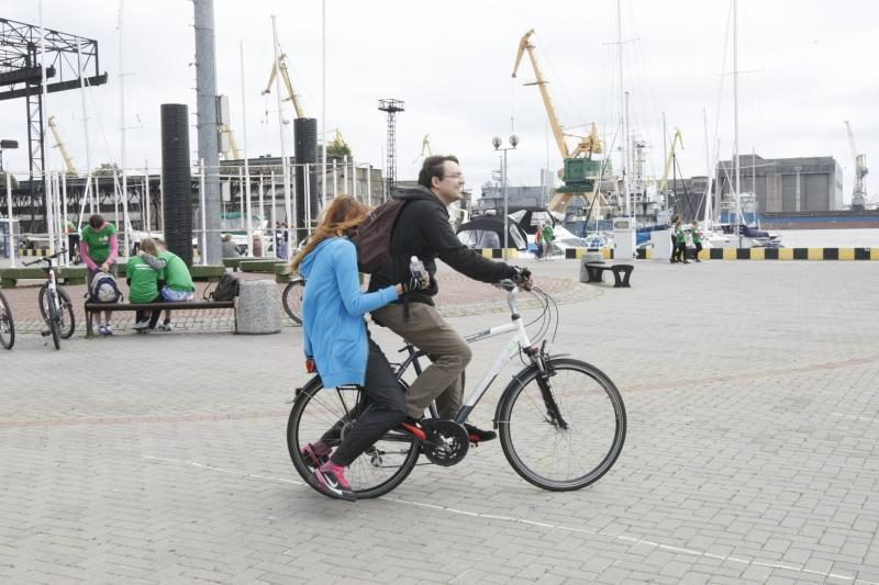 Į Lietuvos jaunimo dienas Kaune iš Klaipėdos - su dviračiais
