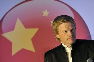 Futbolo žvaigždė O.Kahnas ves Kinijos televizijos realybės šou