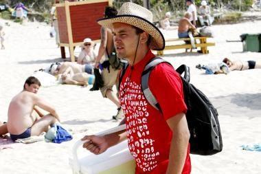 Čeburekų verslas paplūdimiuose klesti