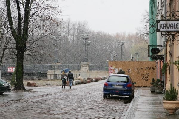 Sinoptikai: pirmasis sniegas Klaipėdoje iškart tirpsta