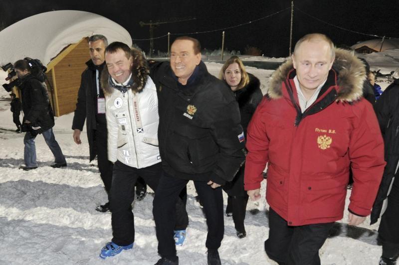 S.Berlusconi aplankė naujai išrinktą Rusijos prezidentą V.Putiną