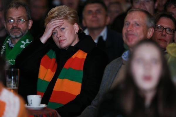 D.Grybauskaitė ragino tikėti Lietuvos rinktinės sėkme