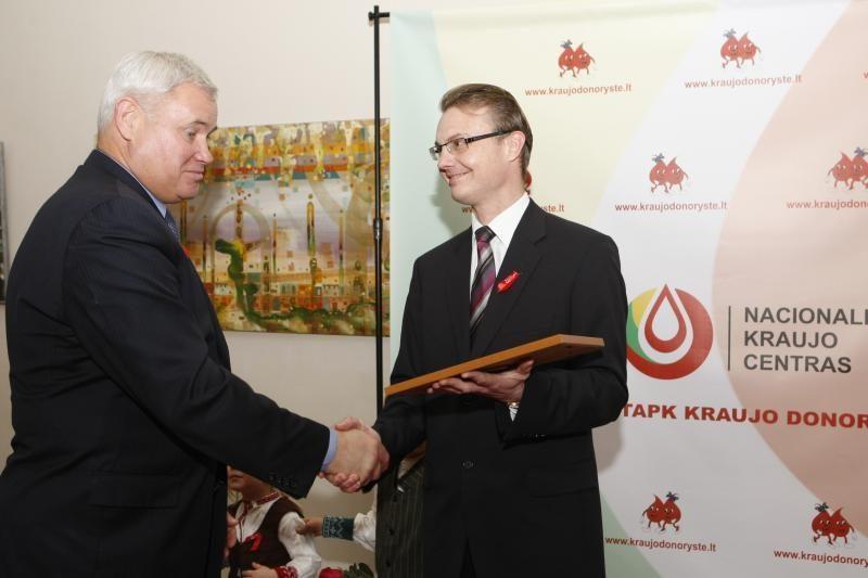 Neatlygintiniems kraujo donorams iš Klaipėdos - ordinas ir padėkos