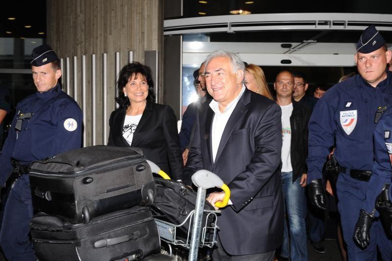 Buvęs TVF vadovas Straussas-Kahnas parskrido į Prancūziją