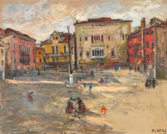 Rekonstruotoje P.Domšaičio galerijoje – dailininko Arbit Blato paroda