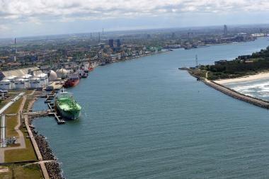 Baltarusiai atvyksta apžiūrėti galimas vietas dujų terminalui