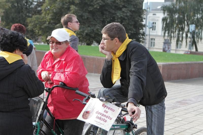 """Klaipėdoje – dviračių žygis """"Už organų donorystę! Už gyvenimą!"""""""