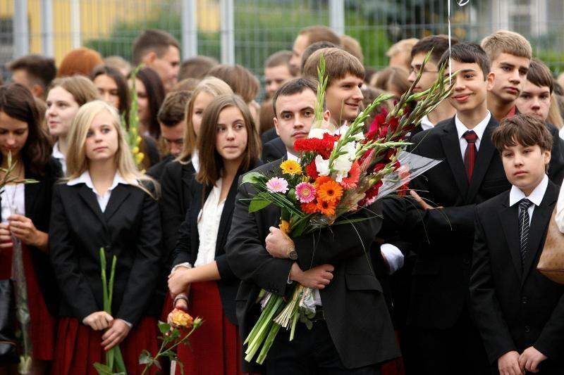 Maždaug pusėje šalies mokyklų – mokslo metų pradžios šventė