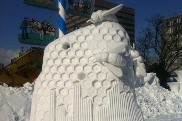 Sniego skulptūrų meistrai vėl kelia sparnus į Japoniją