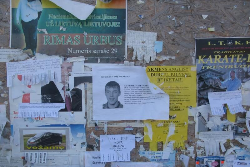 Sekmadienį Lentvaryje tęsėsi dingusio kauniečio studento paieškos