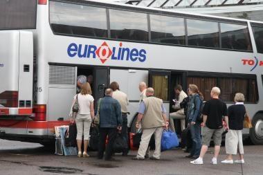 """""""Tibus"""" autobusai išvejami iš didmiesčių stočių"""