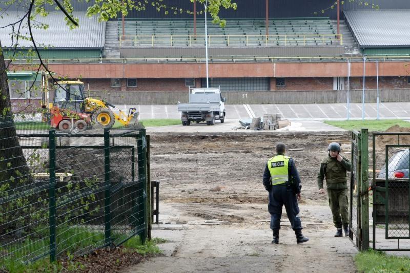 Klaipėdos dviračių treke darbininkai rado bombą
