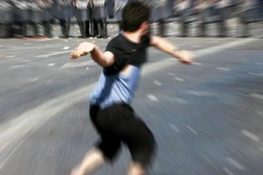 Ispanijoje vagis buvo užmėtytas akmenimis