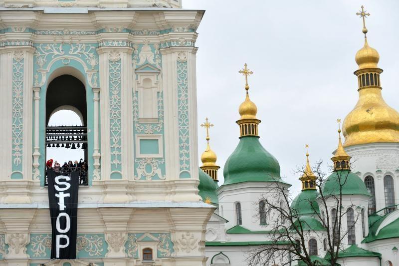 """Judėjimas """"Femen"""" protestuoja prieš abortų uždraudimą"""