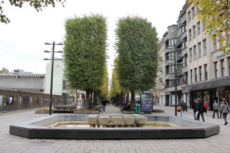 Apmirę miesto fontanai laukia pavasario