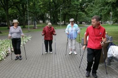 Šiaurietiškas vaikščiojimas sudomino tik tris klaipėdietes